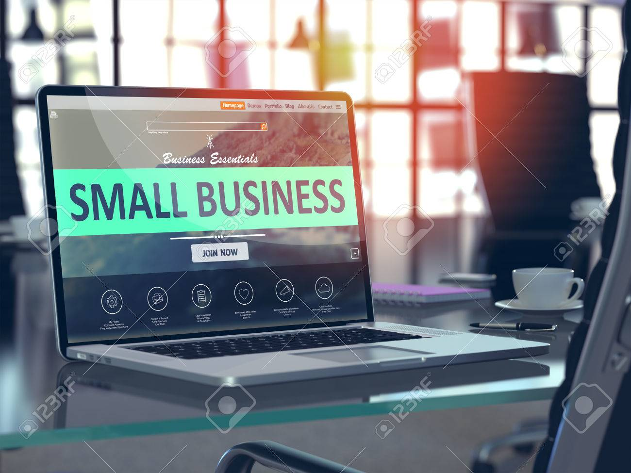 Concept de petite entreprise gros plan sur l écran d ordinateur