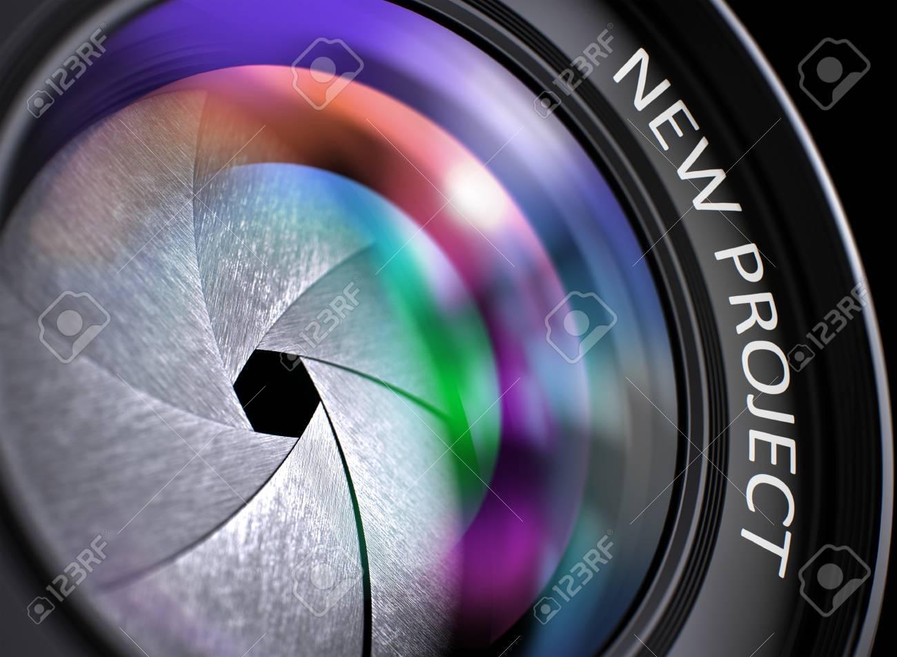 Banque d images - Nouveau projet - Concept Lens de caméra avec réflexion  colorée Lens 5cc12a49236