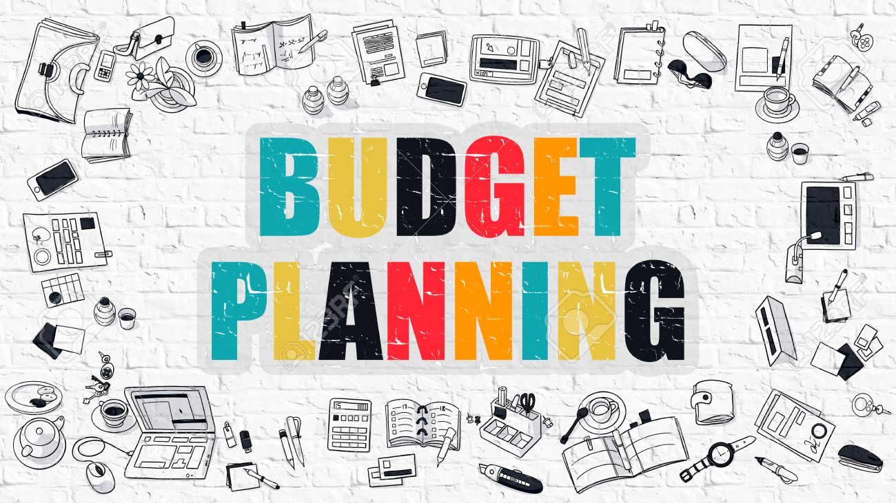 Budget Planning - Multicolor Concept With Doodle Icons Around ...