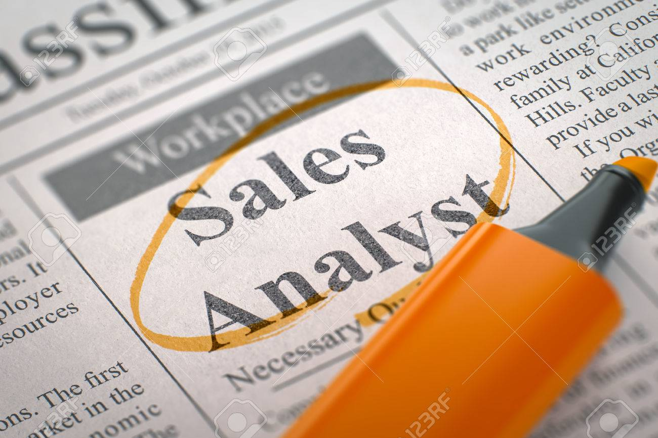 Newspaper With Jobs Sales Analyst Sales Analyst Job Vacancy