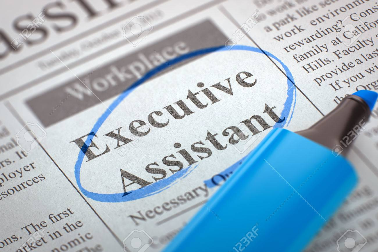 Executive Assistant - Classified Advertisement Of Hiring In ...