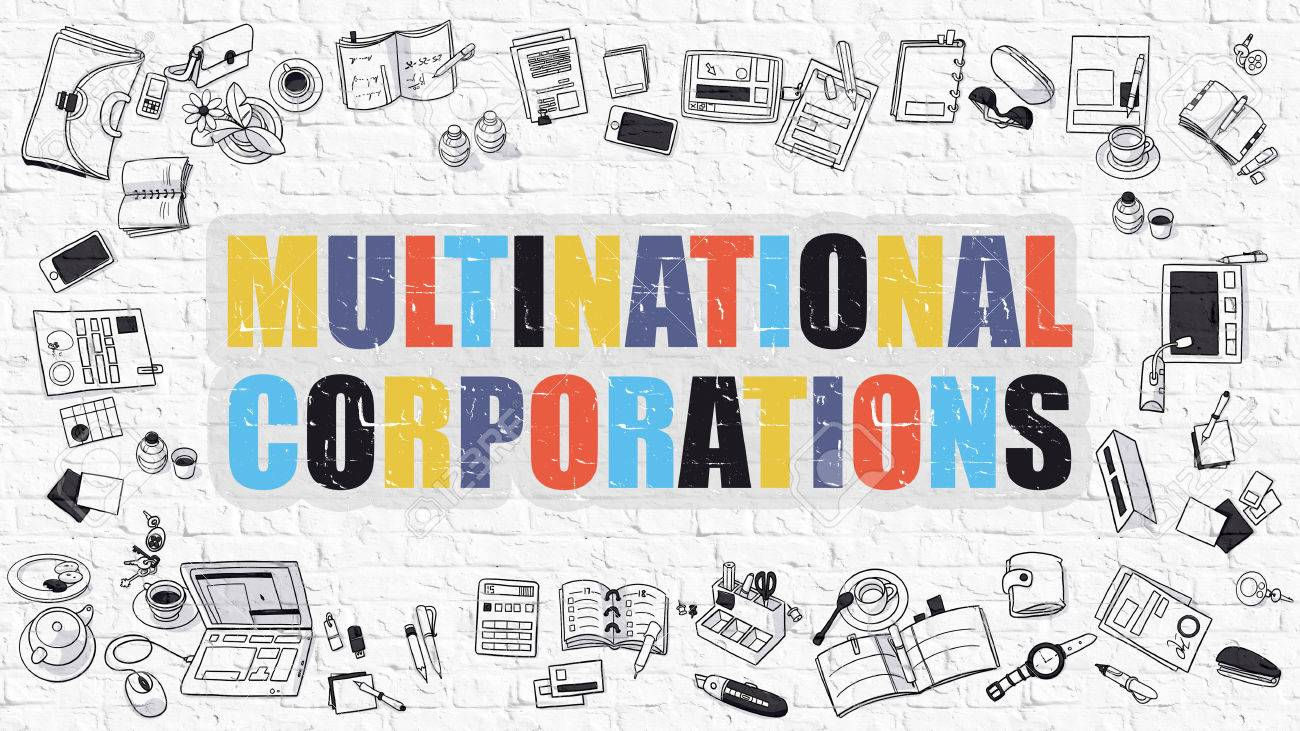 Corporations  >> Multinational Corporations Multicolor Inscription On White Brick