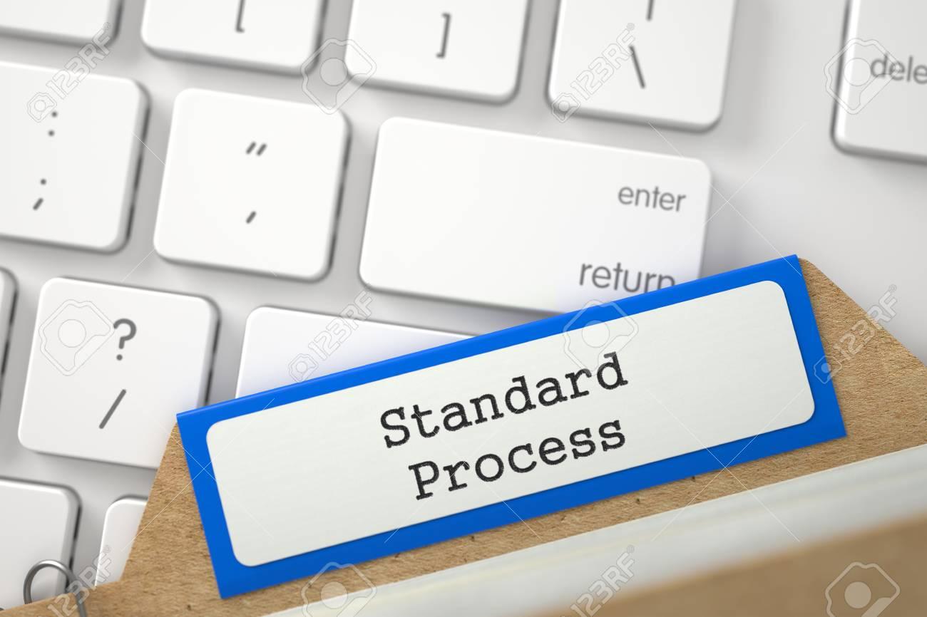 Concepto De Proceso Estándar. Word En La Carpeta Azul Registro Del ...