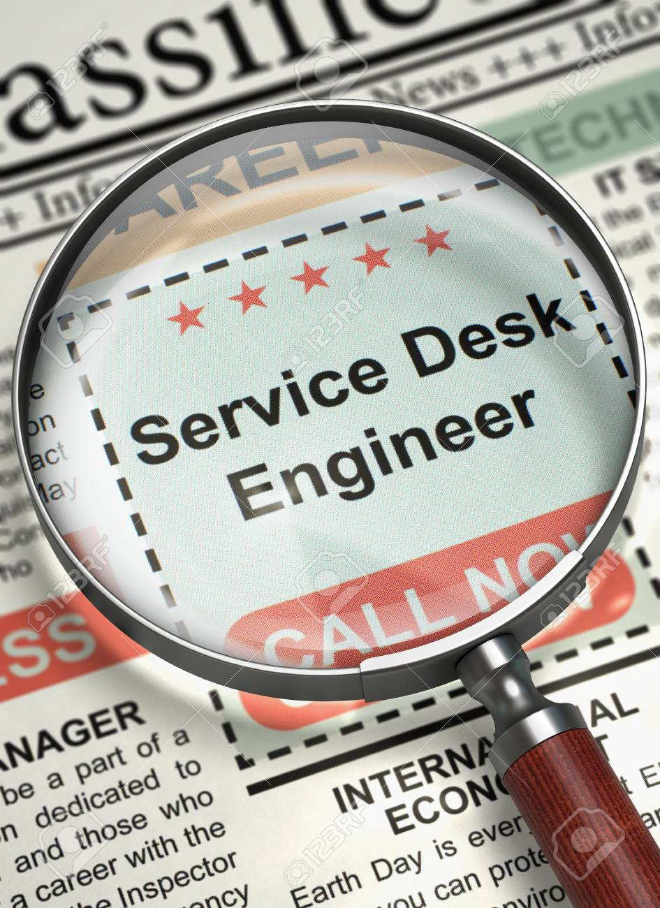 Service Desk Engineer. Newspaper With The Jobs Section Vacancy ...