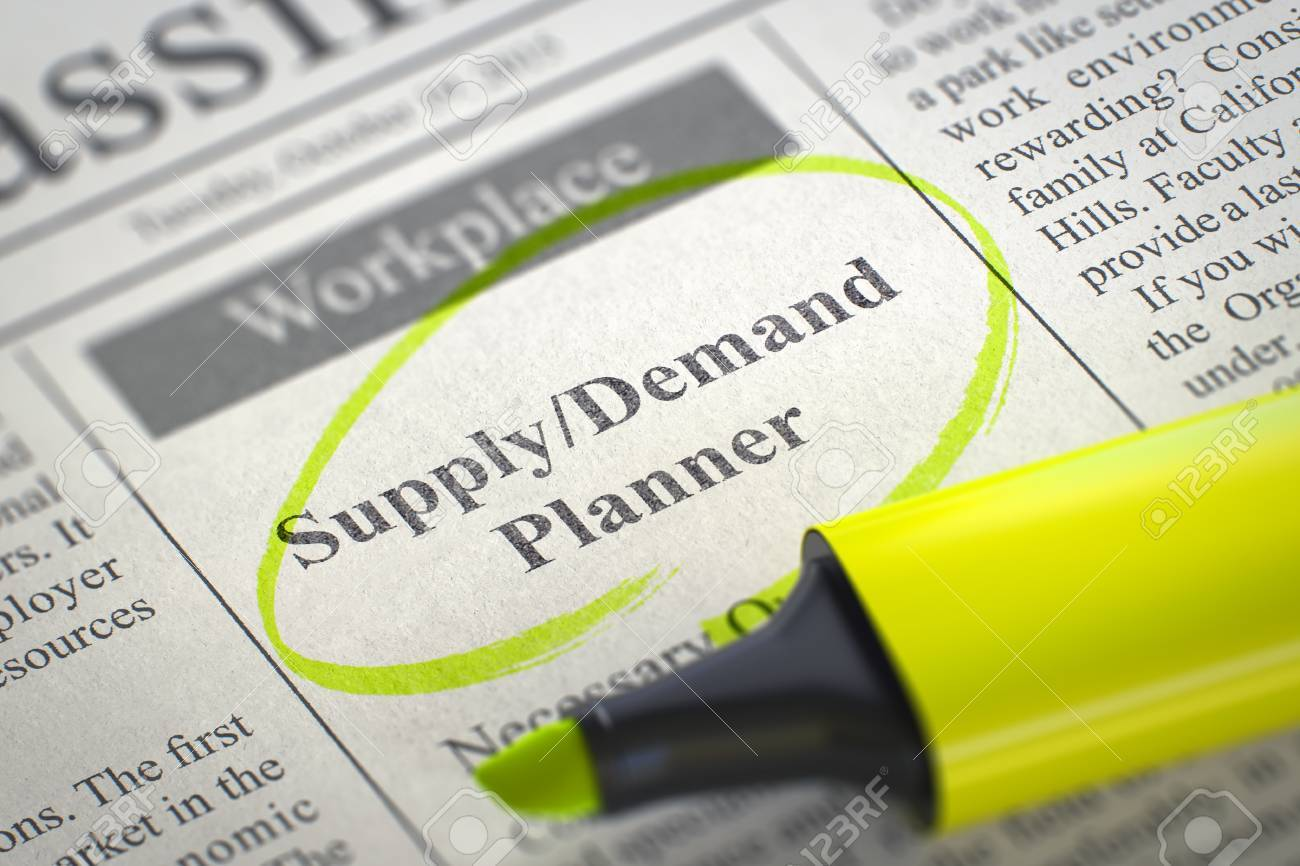 Supply Demand Planner - Small Advertising in Newspaper, Circled