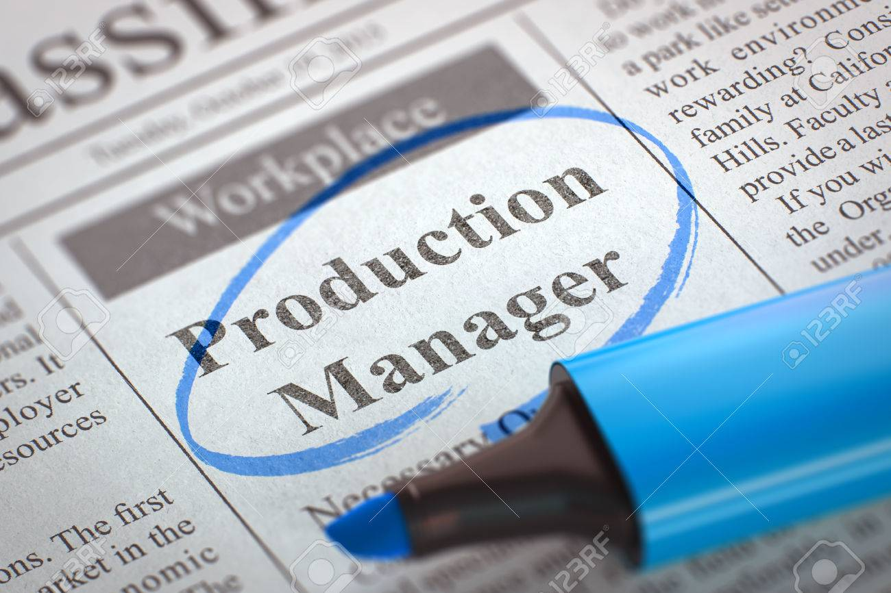 Production Manager - Advertisements And Classifieds Ads For ...