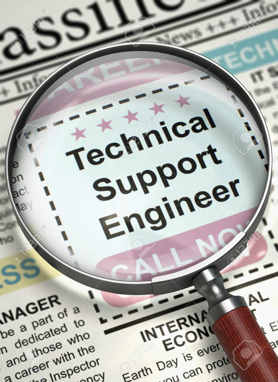 Newspaper With Small Ads Of Job Search Technical Support Engineer ...