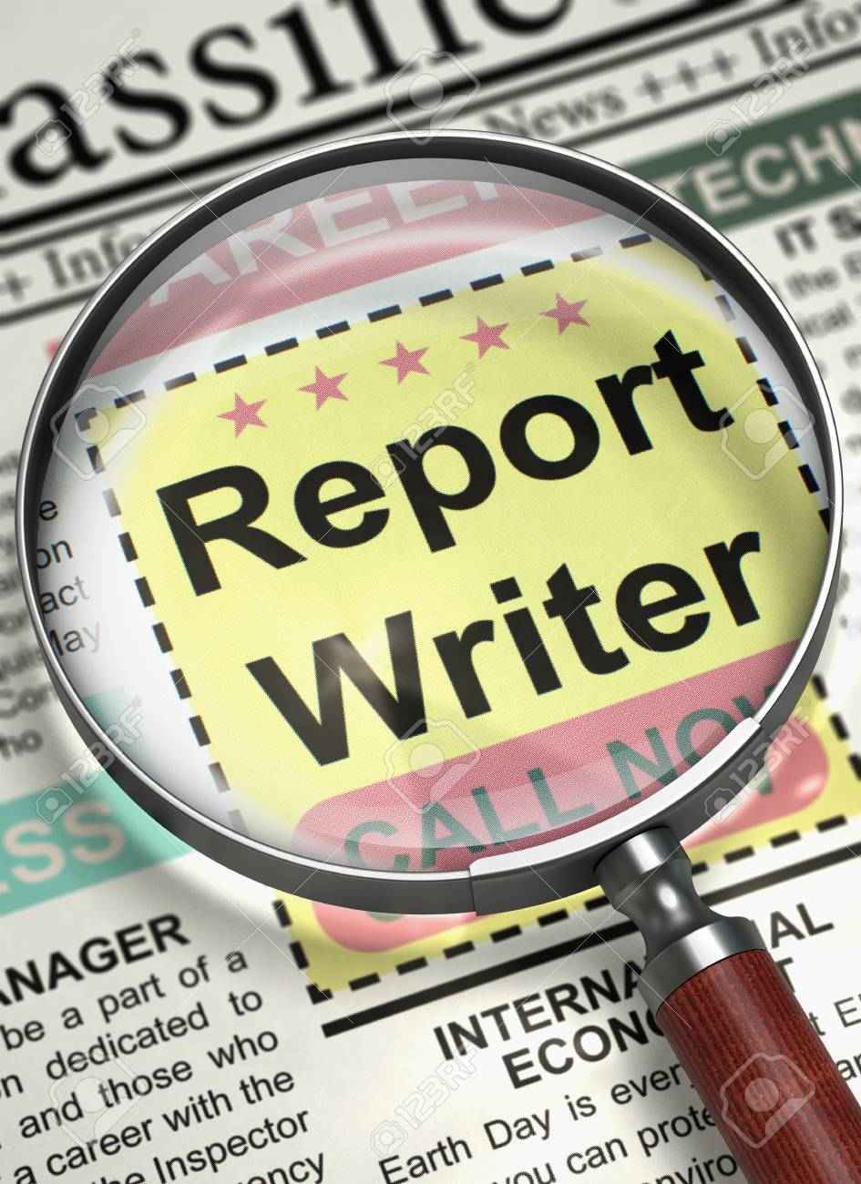 Report Writer - Jobs in Newspaper  Newspaper with Advertisements