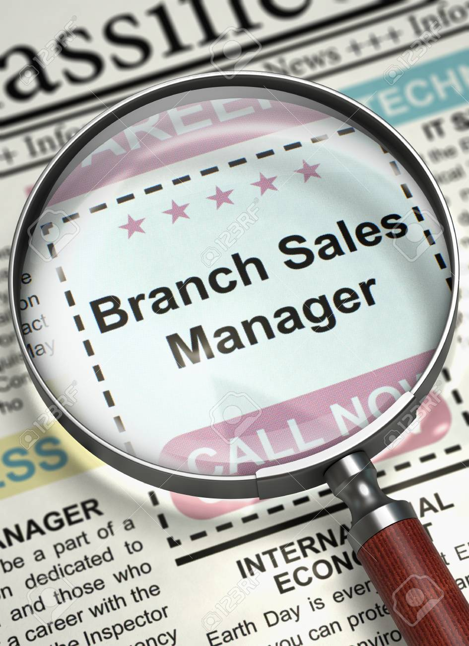 Now Hiring Branch Sales Manager. 3D. Stock Photo, Picture And ...