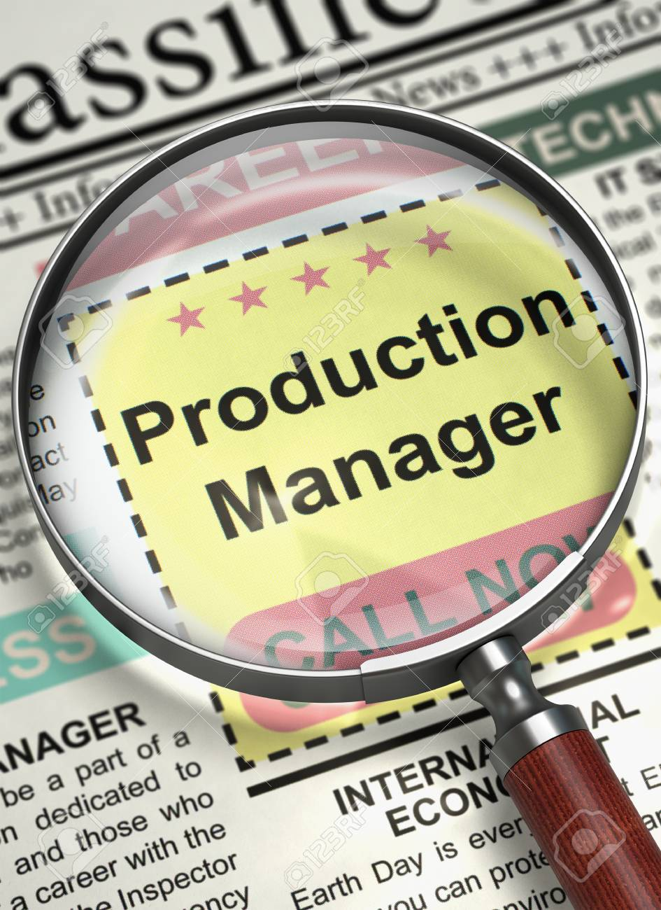 Production Manager - Jobs In Newspaper. Illustration Of Job ...