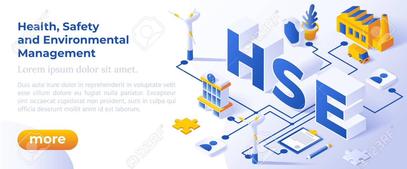 Hse Health Safety And Environmental Management Web Banner Royalty Free Cliparts Vectors And Stock Illustration Image 134785079