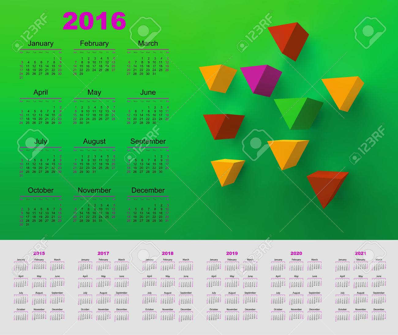 Calendar For 2016 And 2020 And 2021 Pictures