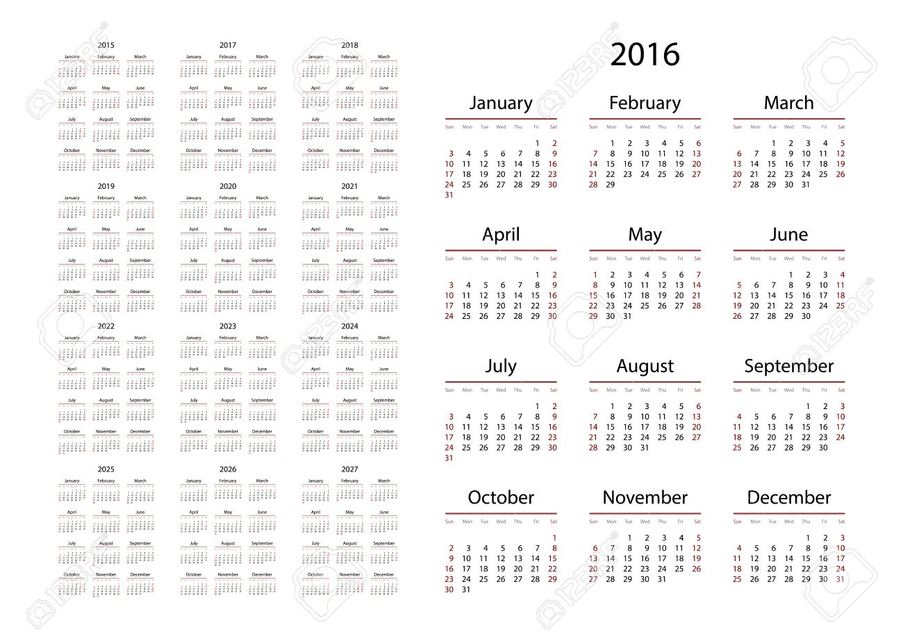Pictures of Calendar For 2016 And 2020 And 2021