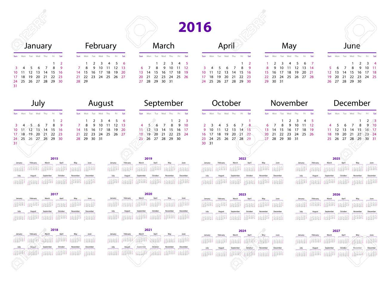 Photos of Calendar For 2016 And 2020 And 2021