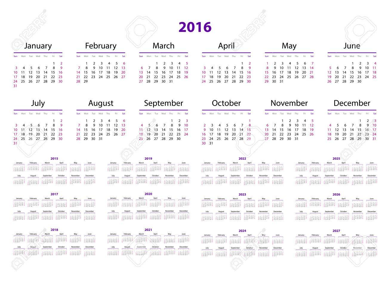 calendar 2015 2016 2017 2018 2019 2020 2021 2022 2023 3 year