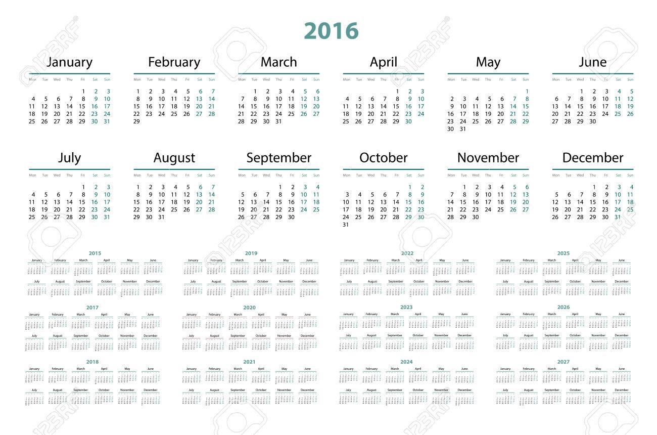 Calendar For 2016 And 2020 And 2021 Images