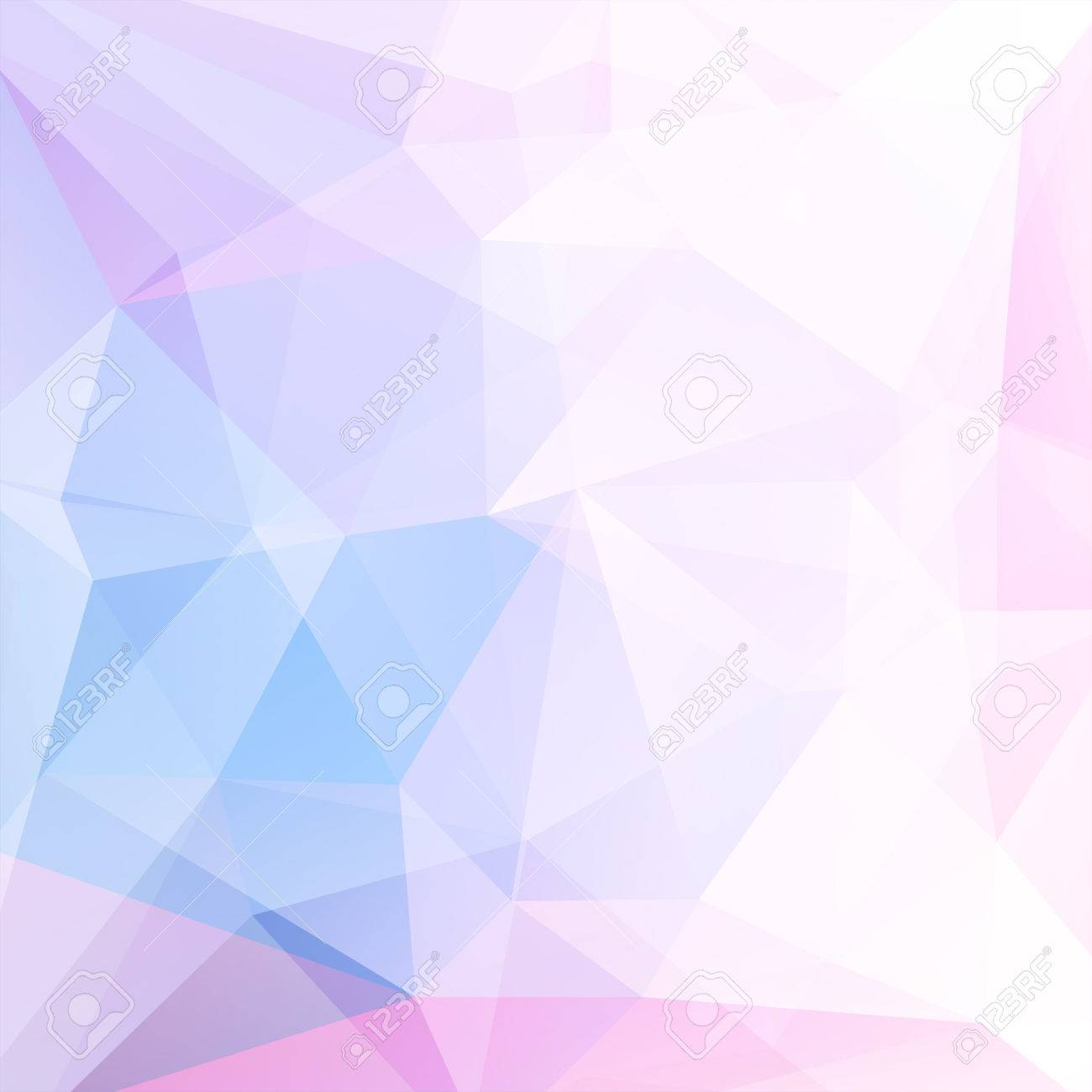 abstract background consisting of white blue pink triangles