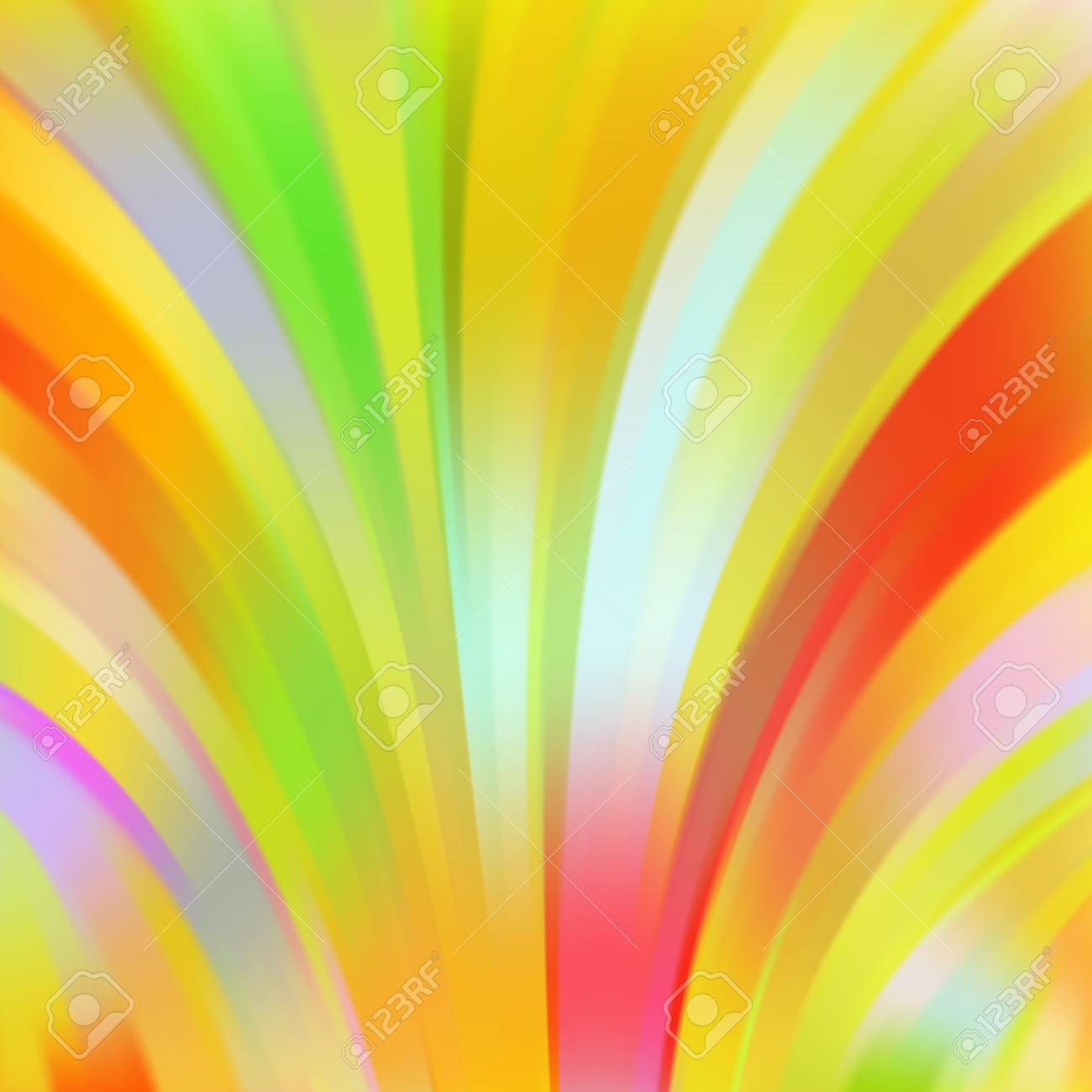 Colorful Smooth Light Lines Background. Yellow, Green, Red Colors ...