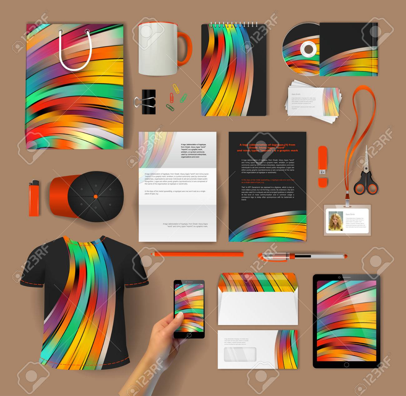 Corporate Identity Templates: Blank, Business Cards, Disk, Envelope ...