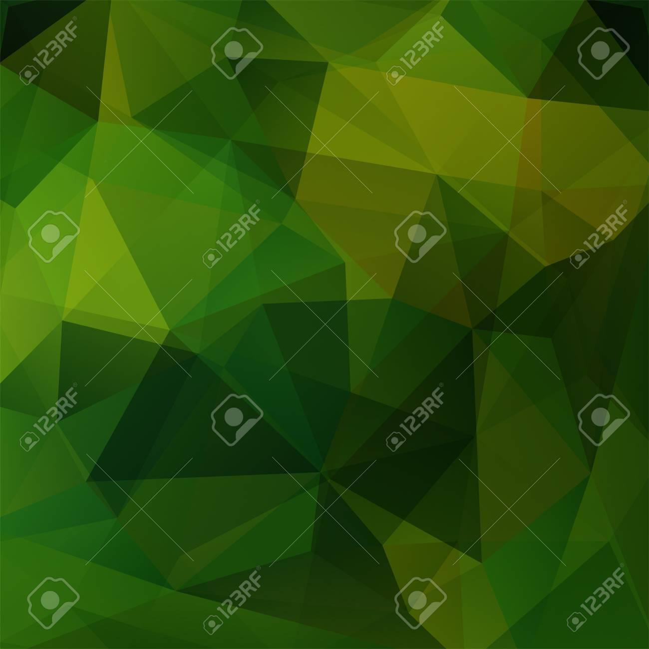 Patron Geometrico Poligono Triangulos Vector De Fondo En Tonos - Tonos-verde