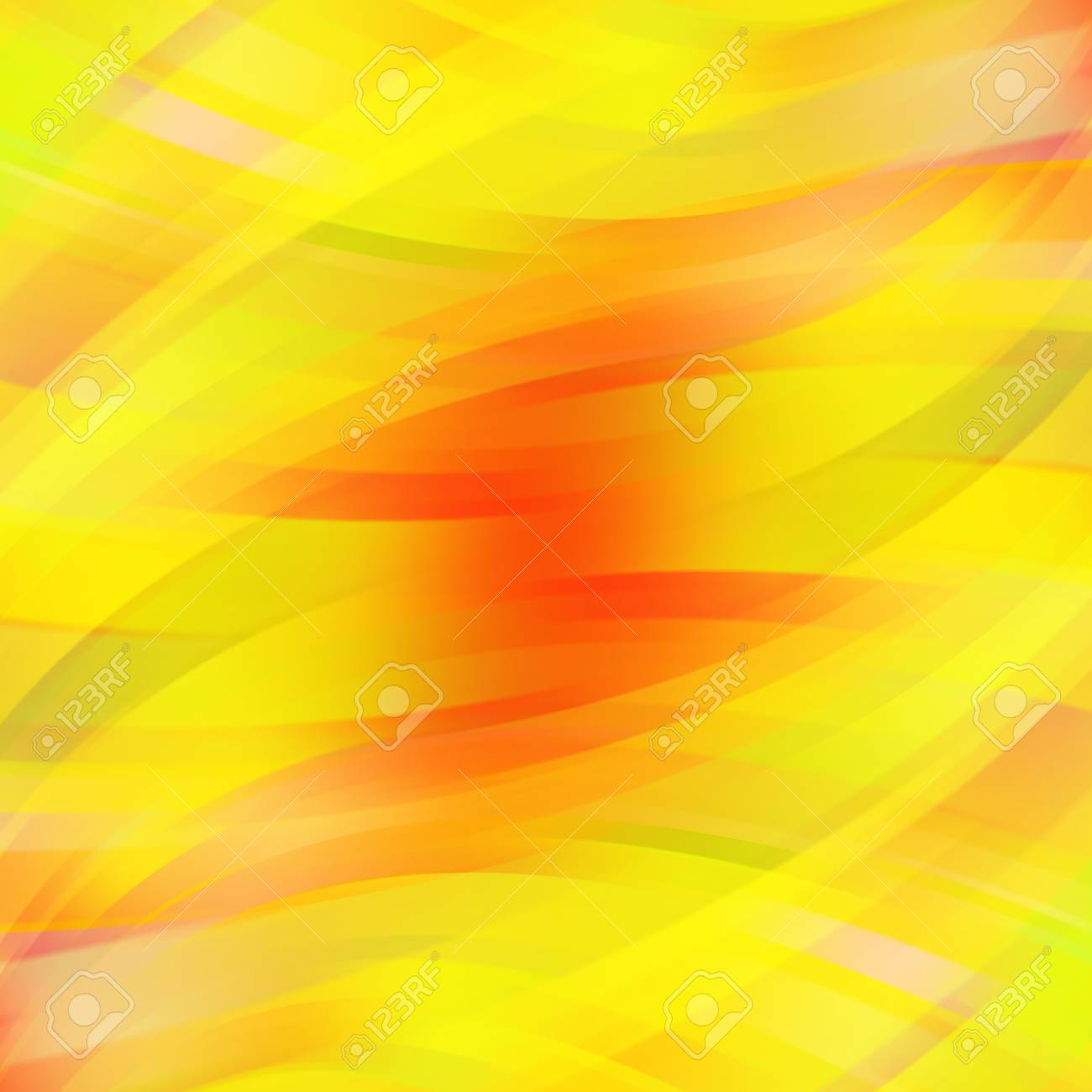 Abstract Yellow Background With Smooth Lines. Color Waves, Pattern ...