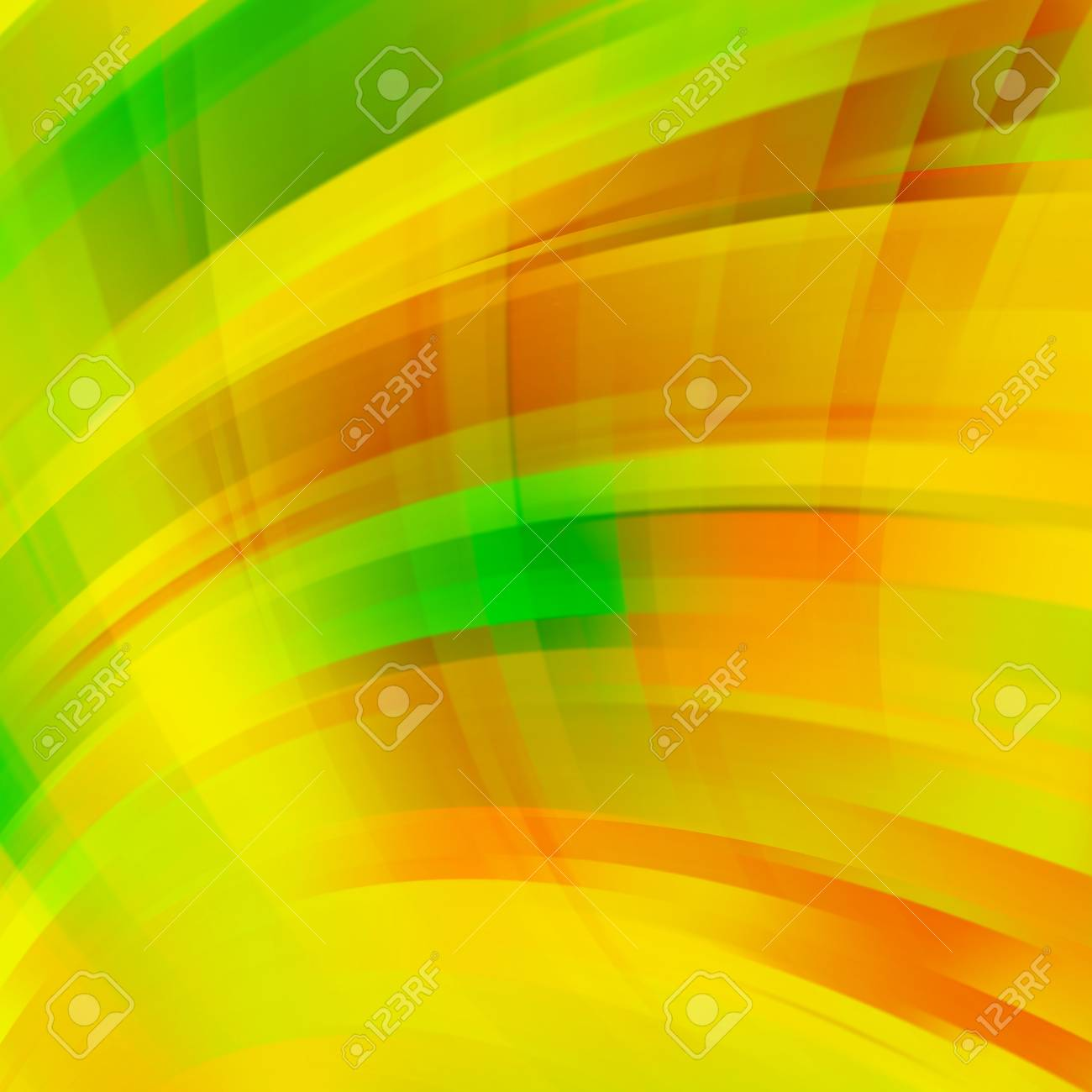 Abstract Yellow Background With Smooth Lines Color Waves Pattern
