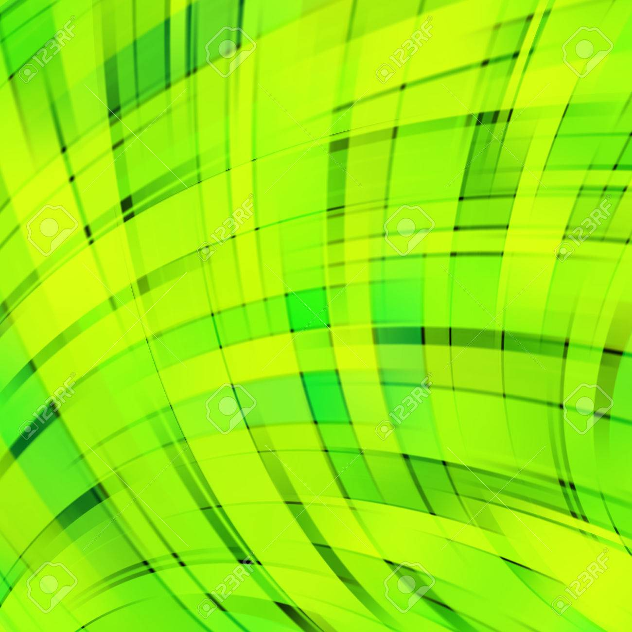 Vector Illustration Of Neon Green Abstract Background With Blurred