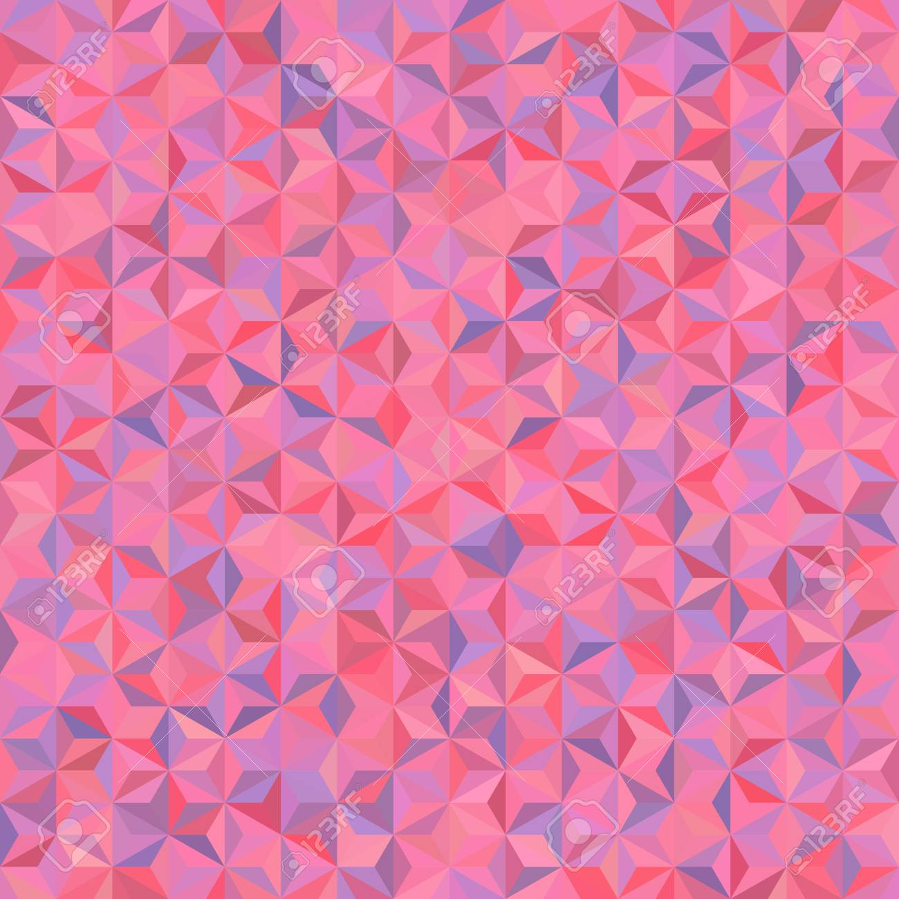 abstract seamless background consisting of pink triangles geometric