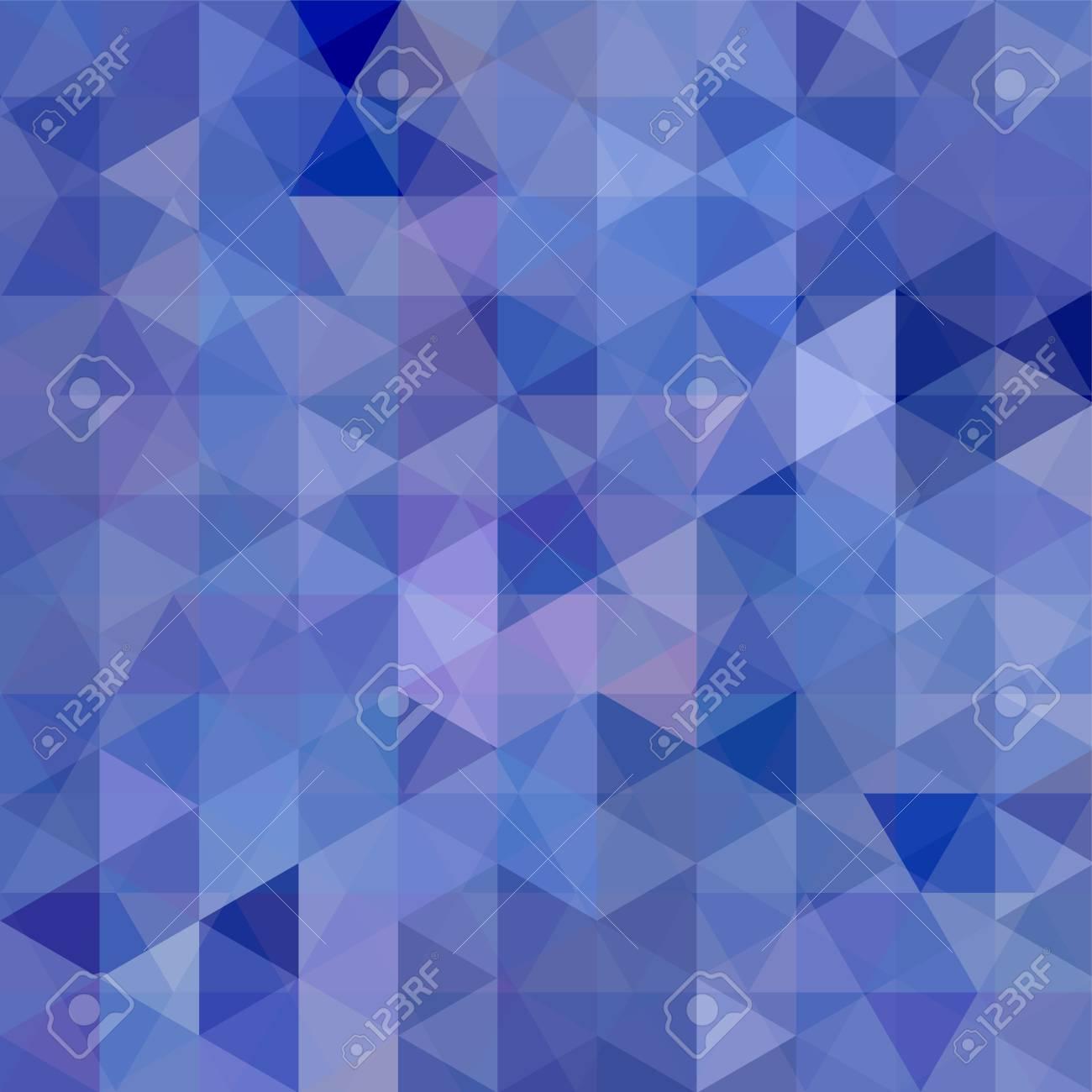Vettoriale Priorità Bassa Blu Astratta Del Mosaico Triangolo