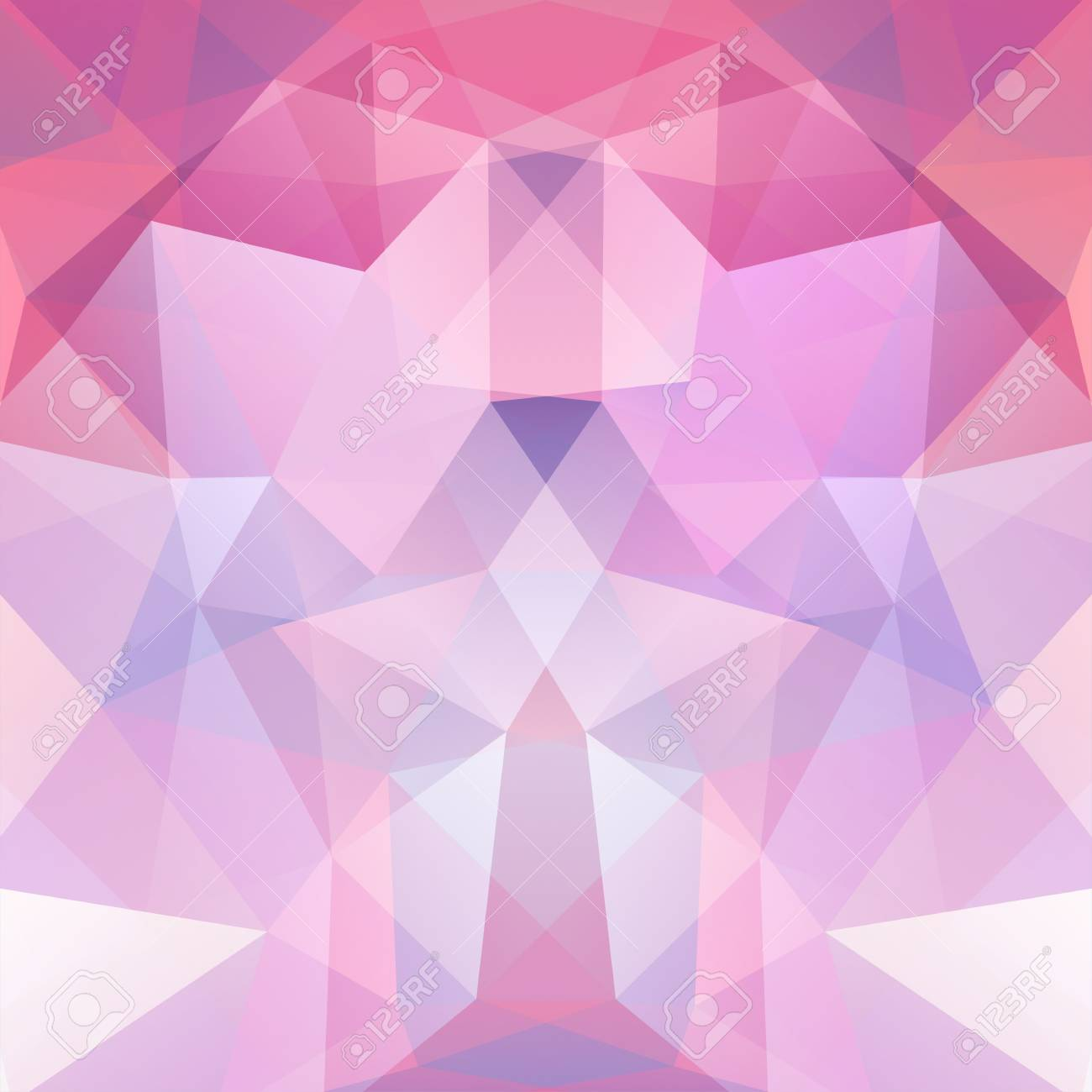 abstract background consisting of pastel pink triangles geometric