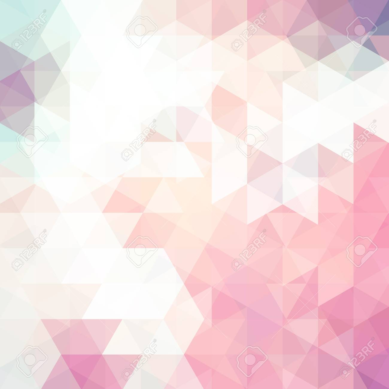 Abstract Background Consisting Of Pastel Pink White Triangles