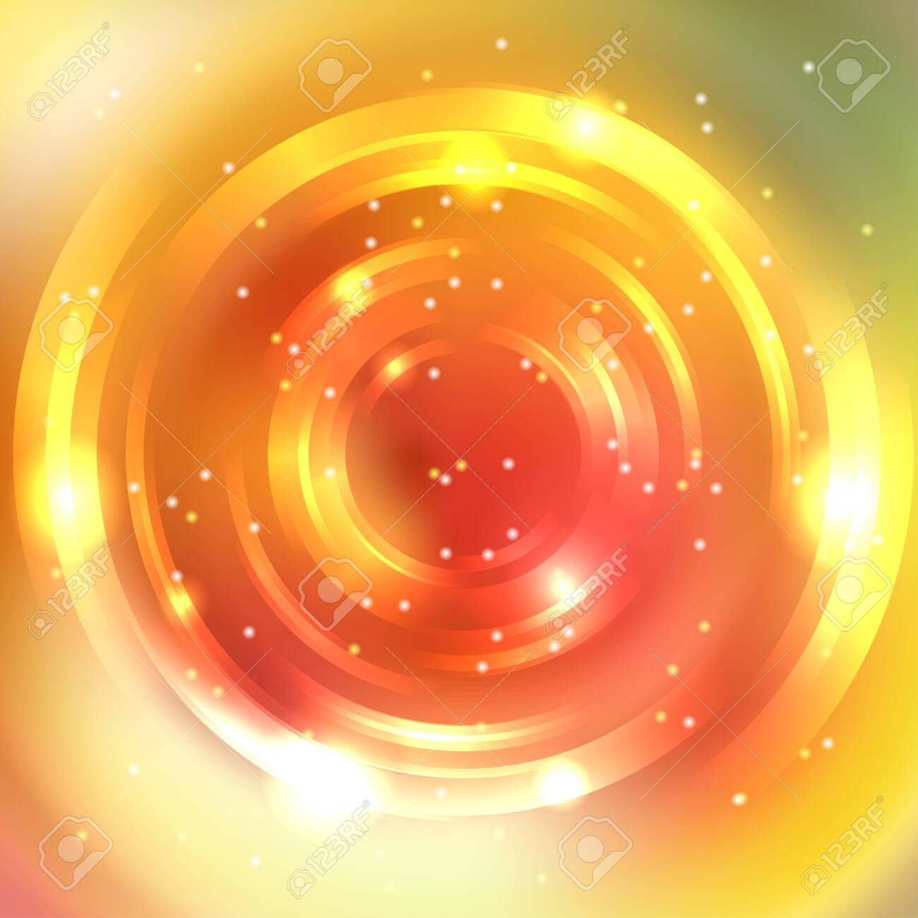 Abstract Colorful Background Shining Circle Tunnel Elegant