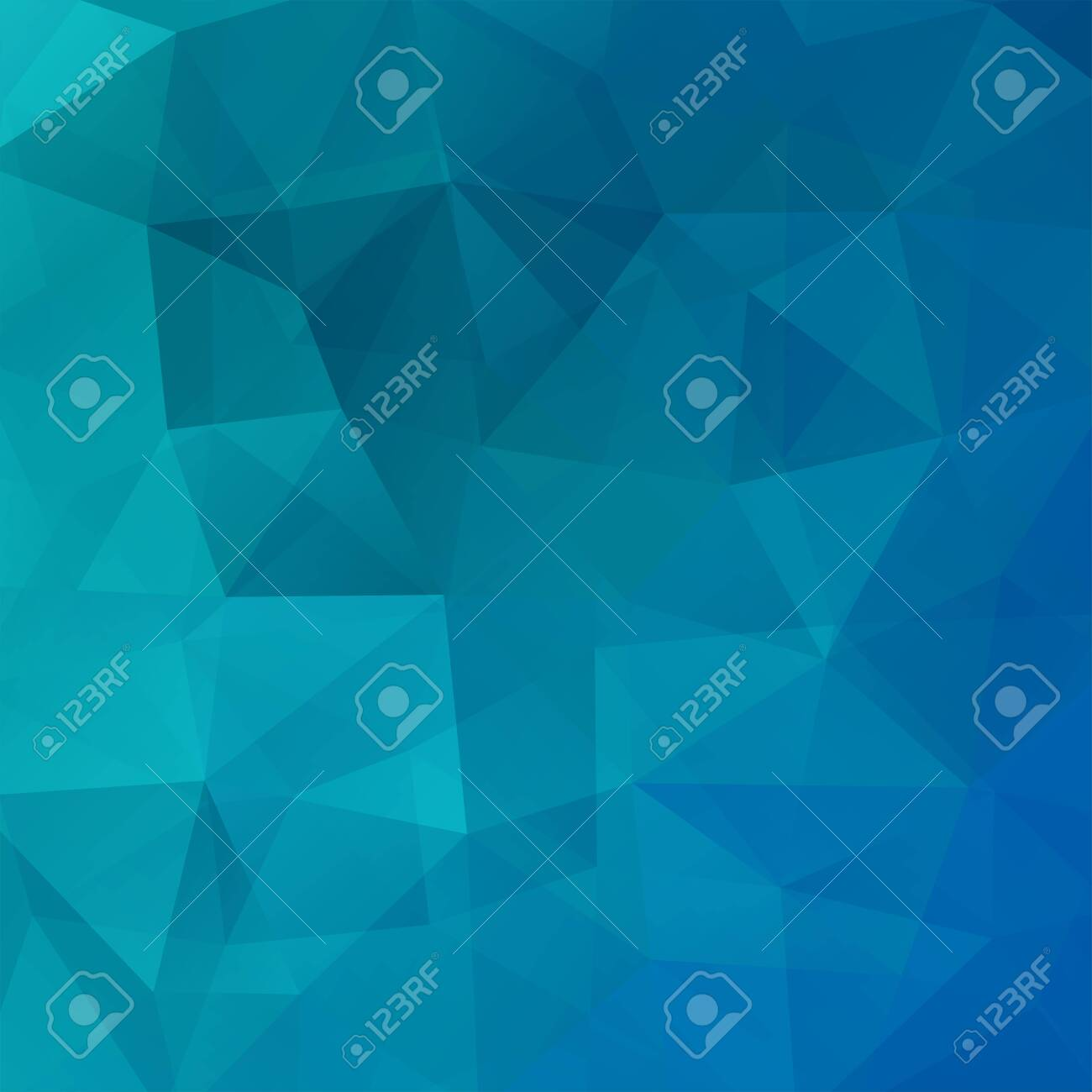 Geometric pattern, polygon triangles vector background in blue tone. Illustration pattern - 120461590