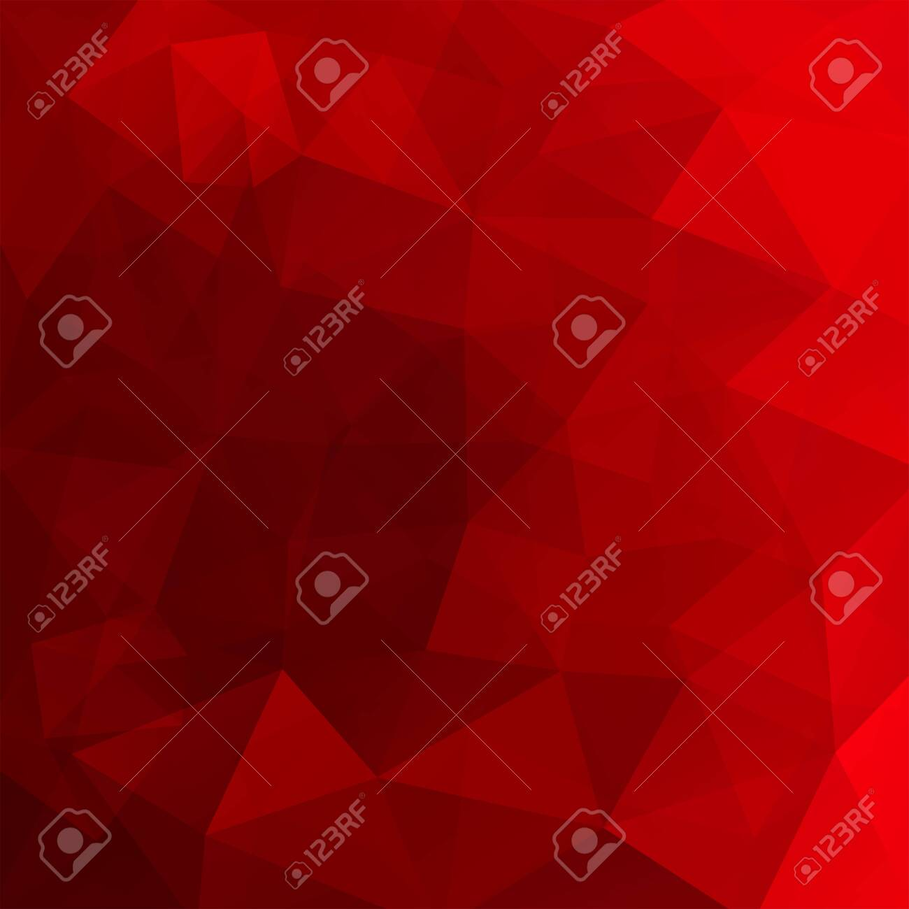 Abstract background consisting of red triangles. Geometric design for business presentations or web template banner flyer. Vector illustration - 120608703