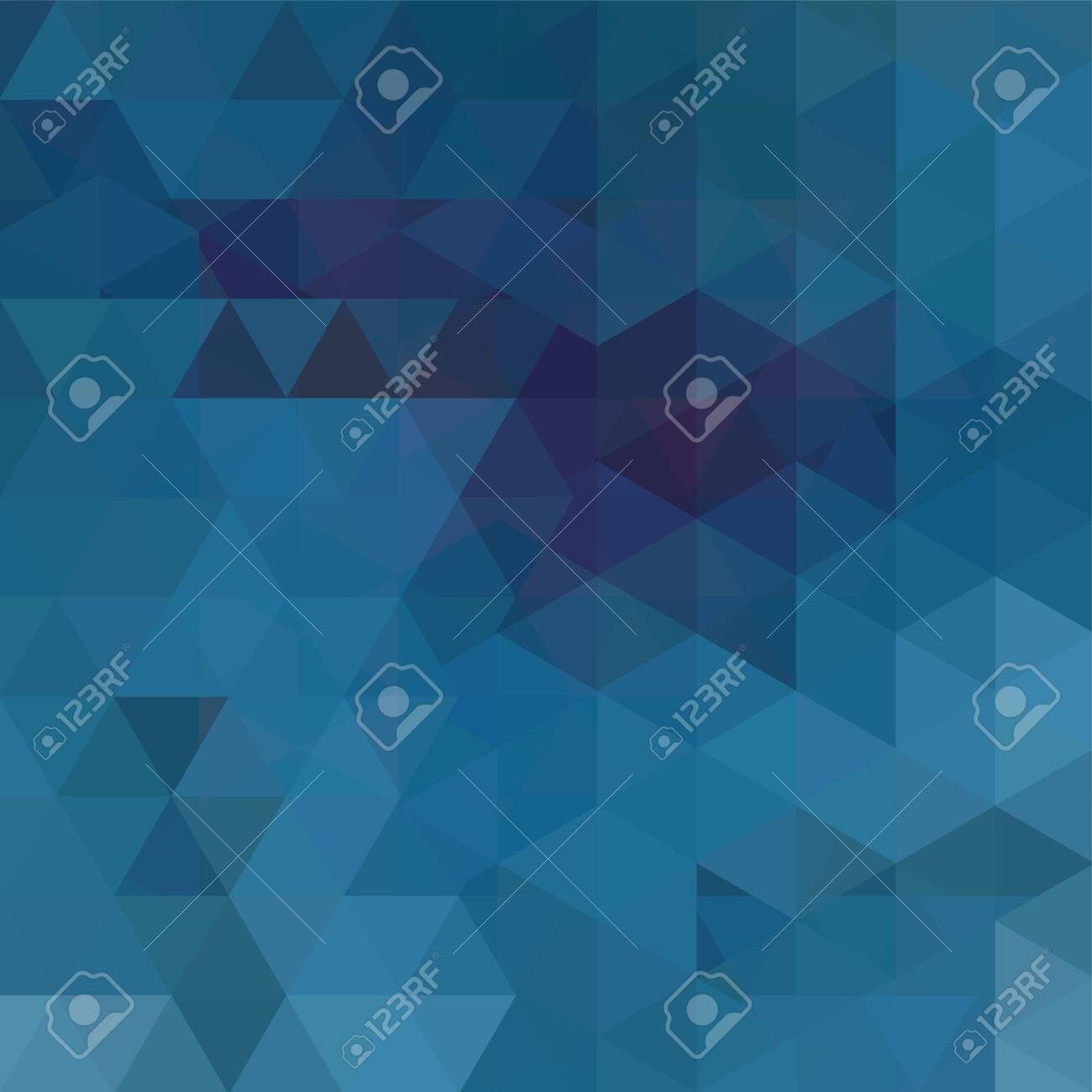 Background made of blue triangles. Square composition with geometric shapes. - 120608874