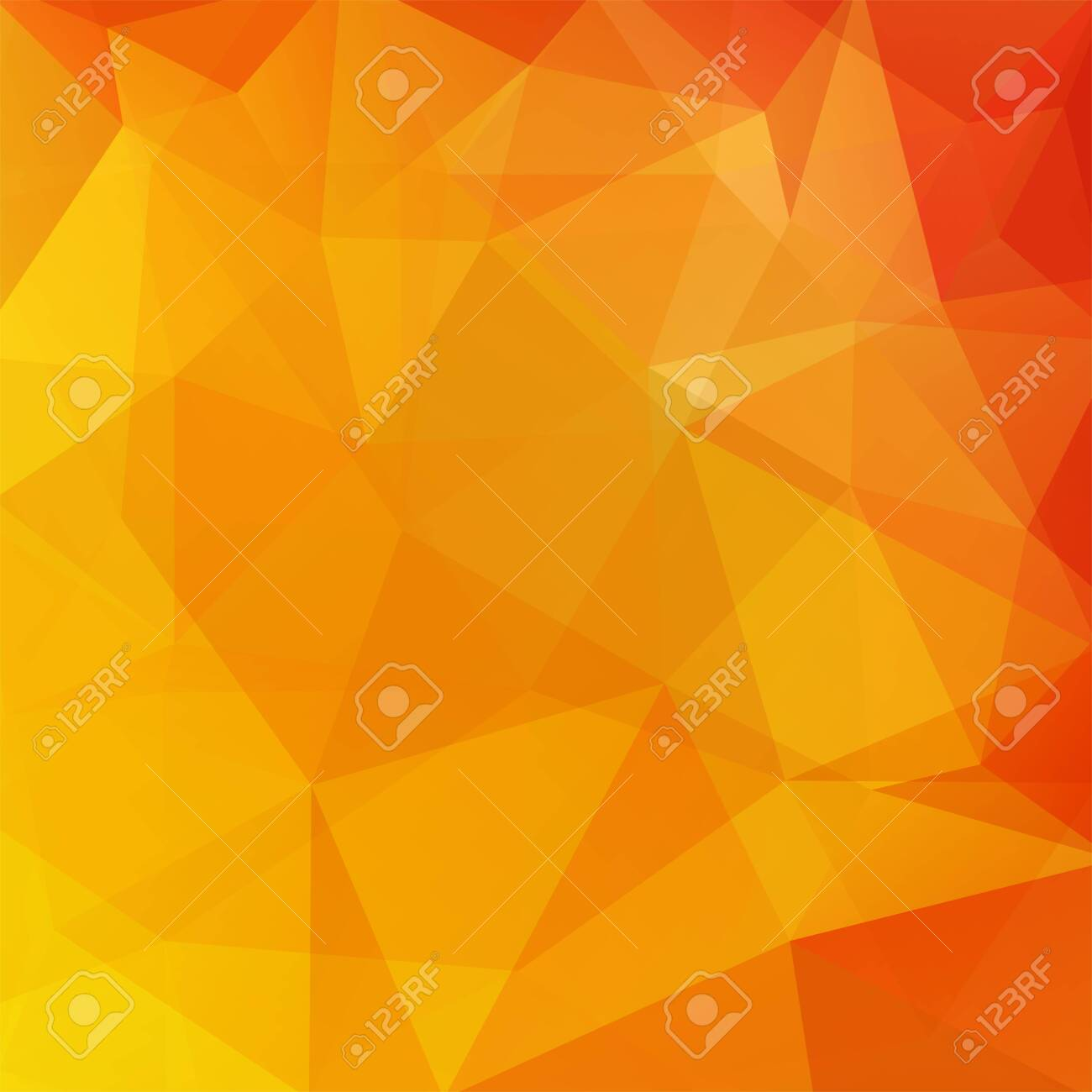 Abstract background consisting of yellow, orange triangles. Geometric design for business presentations or web template banner flyer. Vector illustration - 121391253