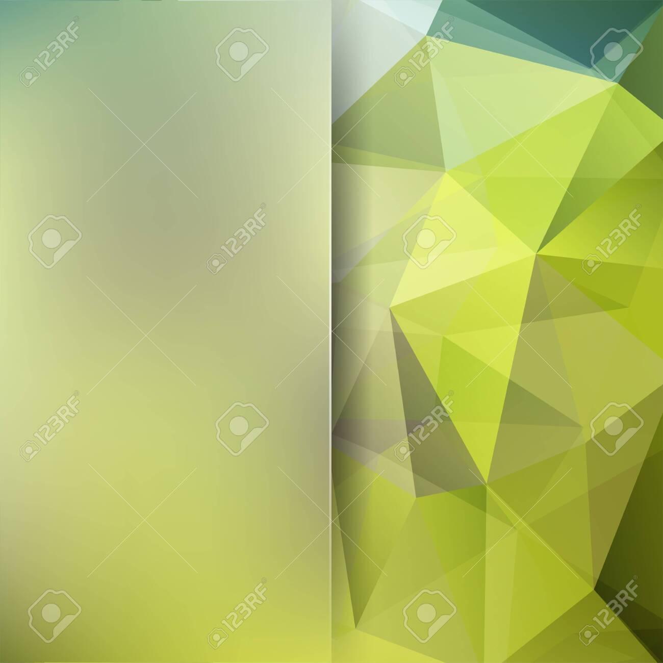 Abstract polygonal vector background. Green geometric vector illustration. Creative design template. Abstract vector background for use in design - 121991378