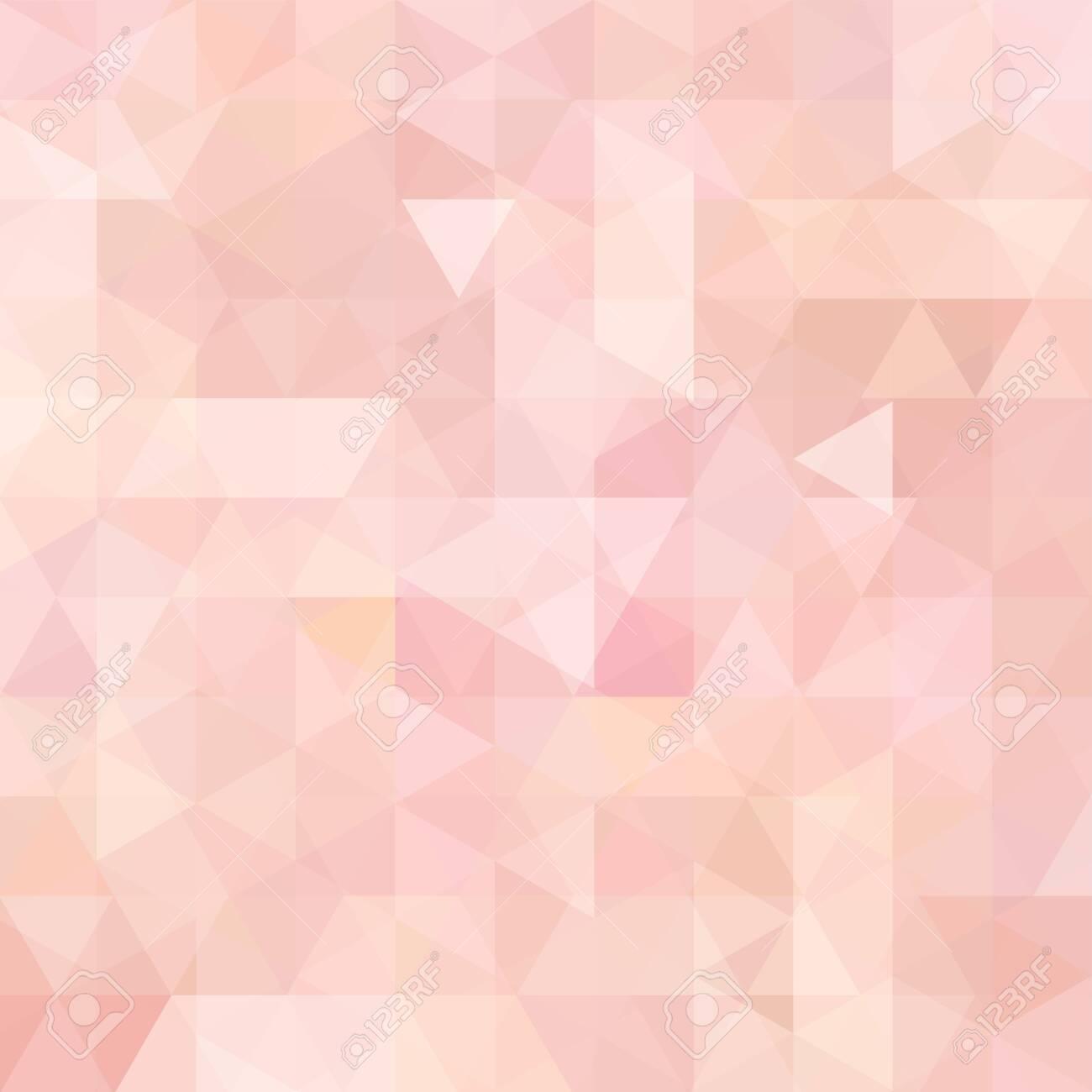 Geometric pattern, triangles vector background in pastel pink, orange ' tones. Illustration pattern - 138239474