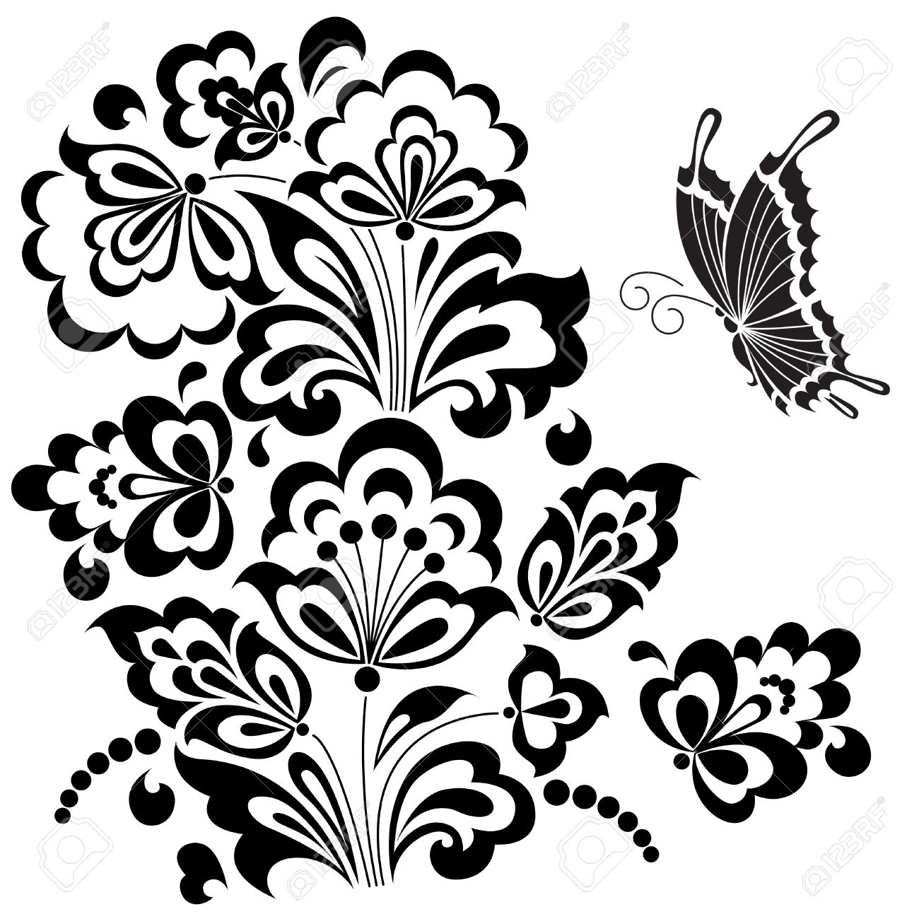 Stylized Floral Design Royalty Free Cliparts Vectors And Stock