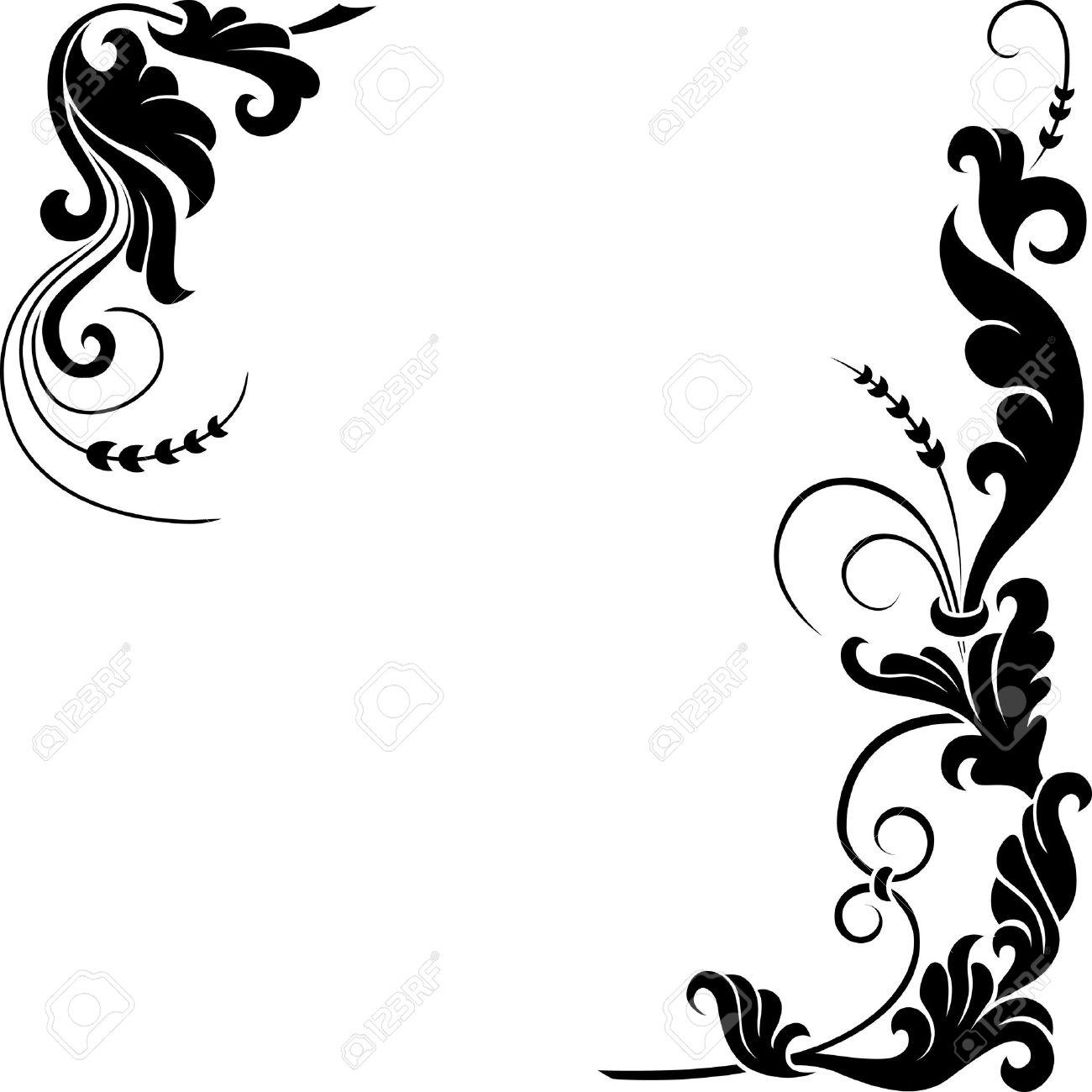 Decoro Floreale Stilizzato Idea Dimmagine Di Decorazione
