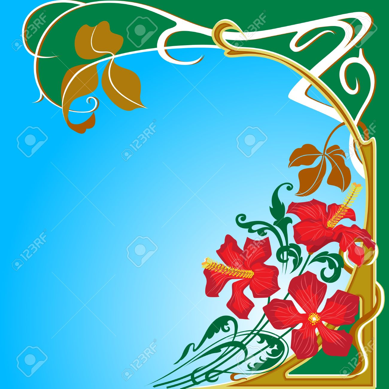Flowers and  floral design in Art Nouveau style. Stock Vector - 11650677
