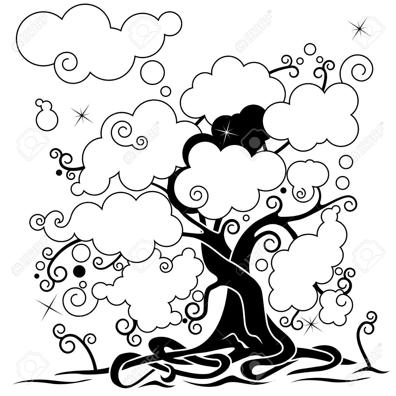 Rbol De Las Redes Sociales El árbol Genealógico Negro Y Blanco