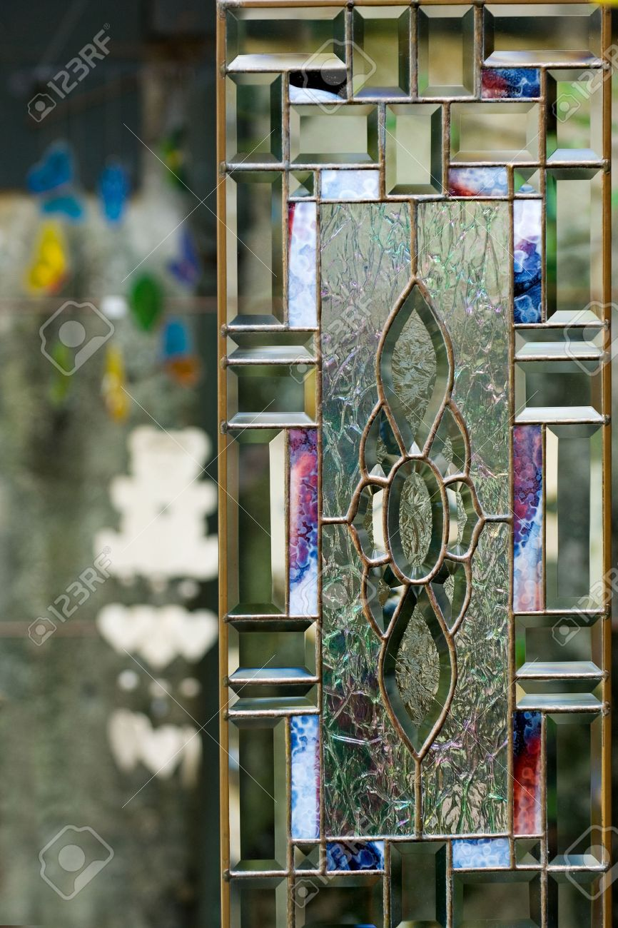 Stained glass door on patio in floridas tourist town of st stained glass door on patio in floridas tourist town of st augustine stock photo eventelaan Image collections