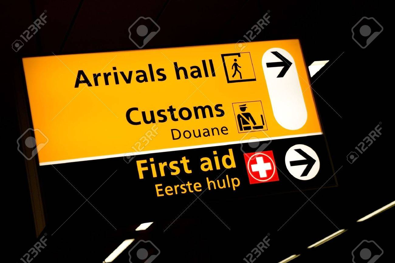 Transfer sign at the gates of Schiphol airport Amsterdam Stock Photo - 3696052