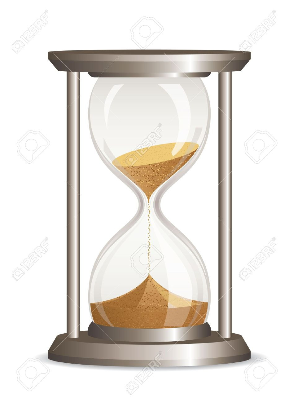 Vector hourglass isolated on white background Stock Vector - 11982449