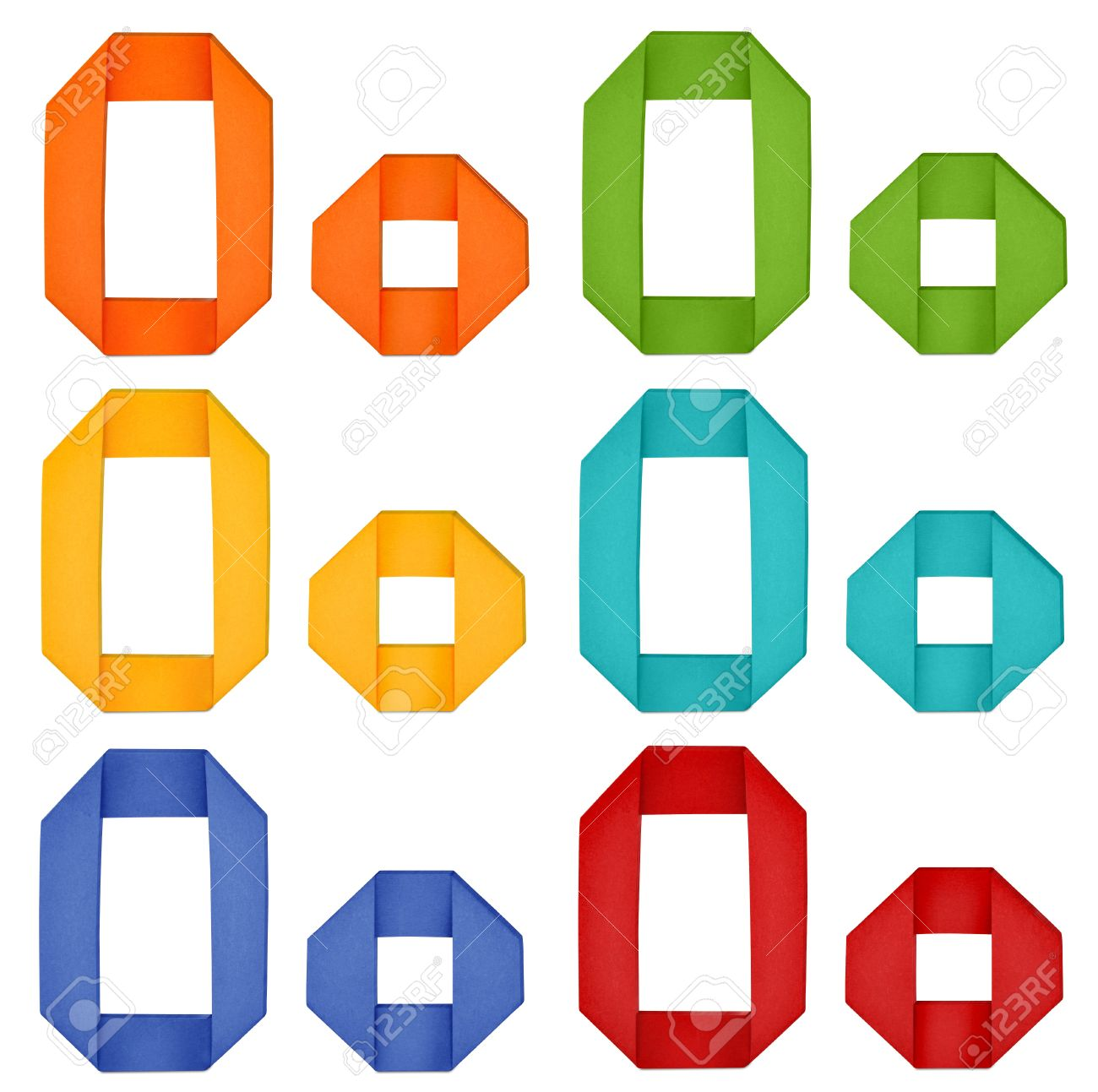 Origami alphabet letters. paper.   1293x1300