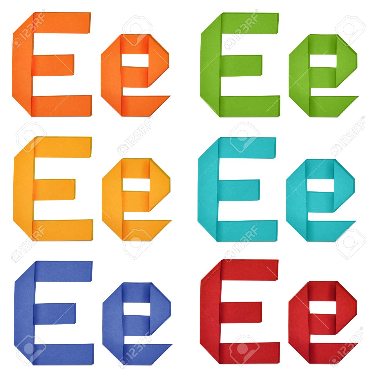 set of capital letter and lowercase letter