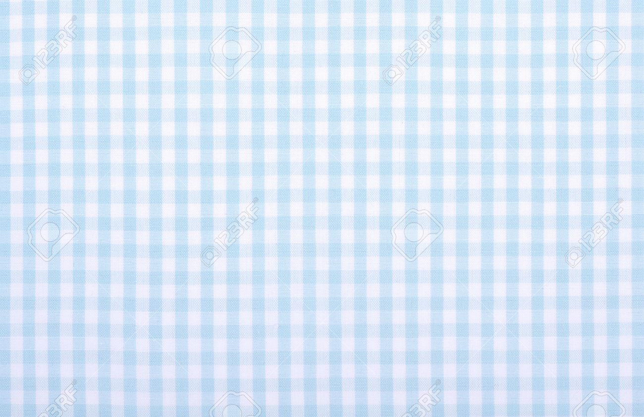 Light Blue Checkered Fabric Closeup , Tablecloth Texture Stock Photo    20694688