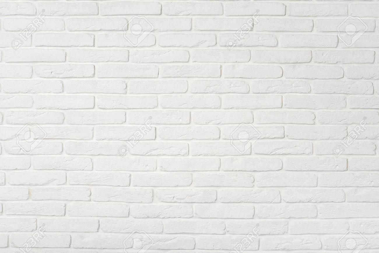 Mur Effet Brique Blanche blanc mur de briques texture. peut utiliser comme arrière-plan.