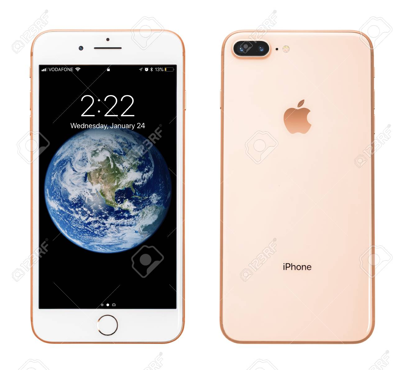 cheap for discount b811f 95643 Kyiv, Ukraine - January 24, 2018: Front and back view of Apple..
